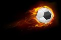 Fiery Soccer Ball Royalty Free Stock Image