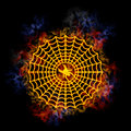Fiery spider web. Stock Image