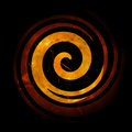 Fiery Spiral Royalty Free Stock Images