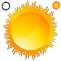 Fiery Sun Icon Set