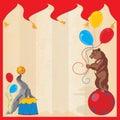 Fiesta de cumpleaños del circo de los animales de ejecución Invitatio Imagen de archivo
