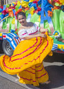 Fiesta las vegas sep a participant at the parade held in nevada on september the annual Royalty Free Stock Photos