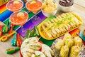 Fiesta buffet table Royalty Free Stock Photo