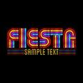 Fiesta tittle Royalty Free Stock Photo