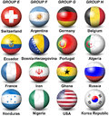 Fifa world cup brazil groups illustration featuring participants in the from e to h from a to d are here each participant Stock Photo