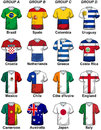 Fifa world cup brazil groups illustration featuring participants in the from a to d from e to h are here each participant Stock Photography