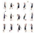 Fifteen players Royalty Free Stock Photo