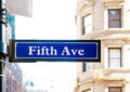 Fifth Avenue Royalty Free Stock Photography