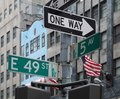At fifth avenue detail street view in new york usa Royalty Free Stock Photos
