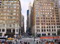 Fifth avenue new york city usa october people and traffic on is one of most expensive and popular shopping street in Royalty Free Stock Image