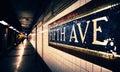 Fifth Avenue Subway Station Royalty Free Stock Photo