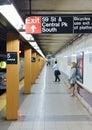 Fifth avenue subway station new york october Stock Photo