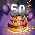 Fiftieth anniversary cake Royalty Free Stock Image