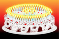 Fiftieth birthday cake Stock Image