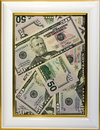 Fifty dollars in frame Stock Photo