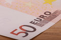 Fifty euro banknote close up Stock Photography