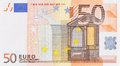 Fifty euro banknote one close up clean Royalty Free Stock Photos