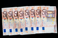 Fifty euro banknotes detail of a Royalty Free Stock Photography