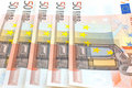 Fifty euro notes background Royalty Free Stock Photo