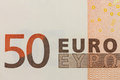 Fifty euro symbol close up Stock Photography