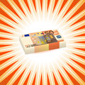 Fifty euro vector illustration with drawing money from Royalty Free Stock Photos