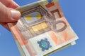 Fifty euros Royalty Free Stock Photo