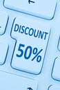 50% fifty percent discount button coupon sale online shopping in Royalty Free Stock Photo