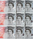 Fifty Pound Notes - Great Britain Stock Photos