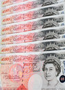 Fifty Pound Notes - Great Britain Royalty Free Stock Photography