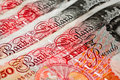 Fifty pounds sterling - UK Currency - Macro Royalty Free Stock Images