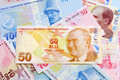 Fifty Turkish Lira Royalty Free Stock Photography