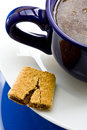 Fig Bar with Coffee Royalty Free Stock Image