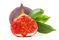 Fig figs close up isolated on white background Royalty Free Stock Photos