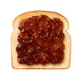 Fig preserves on toast aerial view of Royalty Free Stock Photos