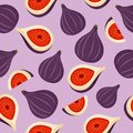 Fig seamless pattern background vector.Fig fruit texture.