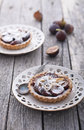 Fig tart with almonds and sugar Stock Images