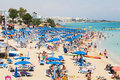 Fig Tree Bay- sandy beach  ,Agia Napa ,Cyprus Royalty Free Stock Photo