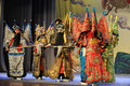Fight-Beijing Opera: Farewell to my concubine Royalty Free Stock Photo
