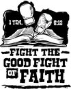 Fight the Good Fight Royalty Free Stock Photo
