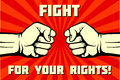 Fight for your rights, solidarity, revolution vector poster