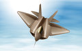 A fighterjet in the air illustration of Royalty Free Stock Image