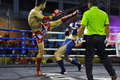 Fighters compete match muaythai world championships thai national stadium march bangkok thailand muay thai world championships Stock Photography