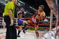 Fighters compete match wmf muaythai world championships thai national stadium march bangkok thailand muay thai world championships Royalty Free Stock Photos