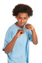 Fighting black boy Royalty Free Stock Photos
