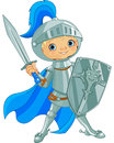 Fighting brave knight illustration of Royalty Free Stock Image