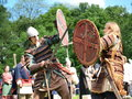 Fighting knights, Zawieprzyce, Poland Royalty Free Stock Photography