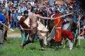 Fighting men. Royalty Free Stock Photo