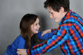 Fighting siblings Stock Images