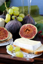 Figs and cheese Royalty Free Stock Photo