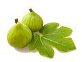 Figs couple isolated white Royalty Free Stock Photos